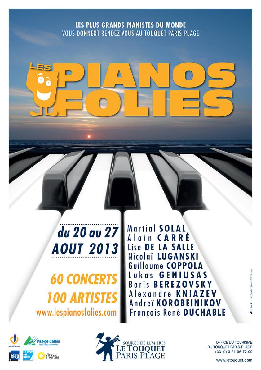 Affiche Les Pianos Folies 2013
