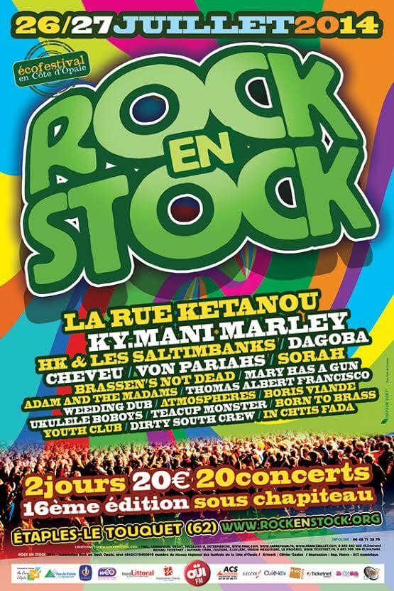 affiche rock en stock 2014 festival juillet 2014