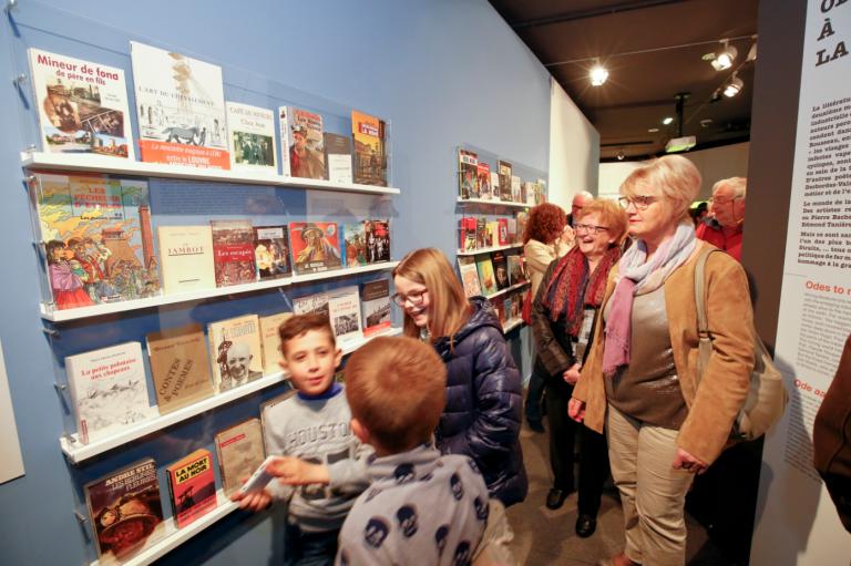 Exposition Écrire la mine © E. Watteau Centre Historique Minier