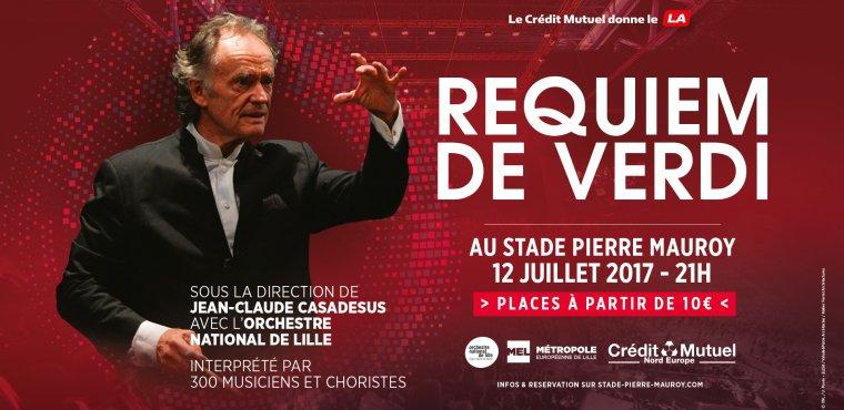 Jean-Claude Casadesus et l'ONL au Stade Pierre Mauroy pour le Requiem de Verdi