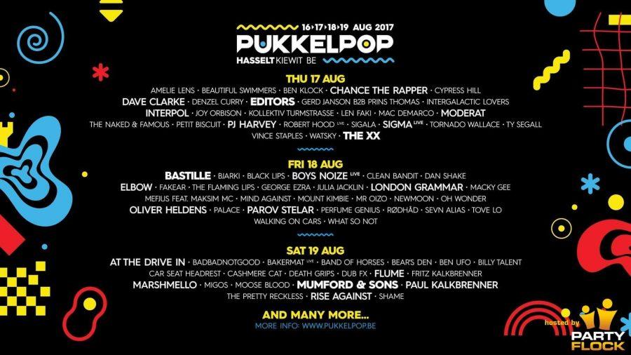 Pukkelpop line up 2017