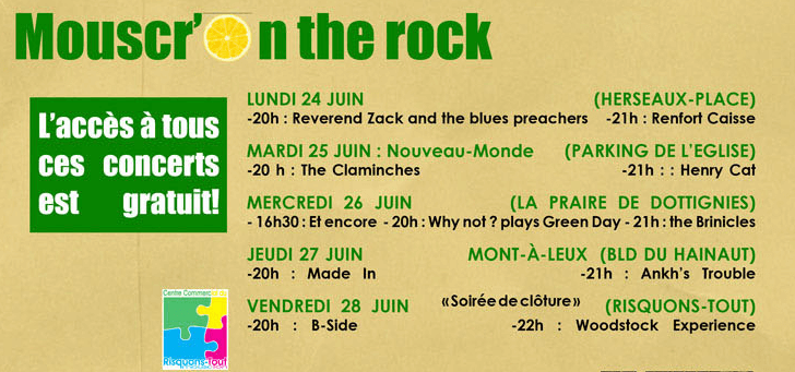 Mouscr'on the rock