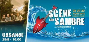 Scène sur Sambre 2015 Festival des Barges l'Abbaye d'Aulne cacestculte