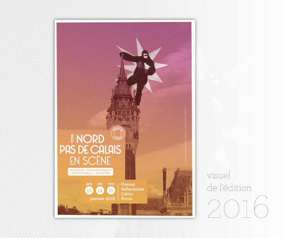 creation-affiche-visuel-festival-culturel Nord-Pas-de-Calais en Scène 2016 cacestculte