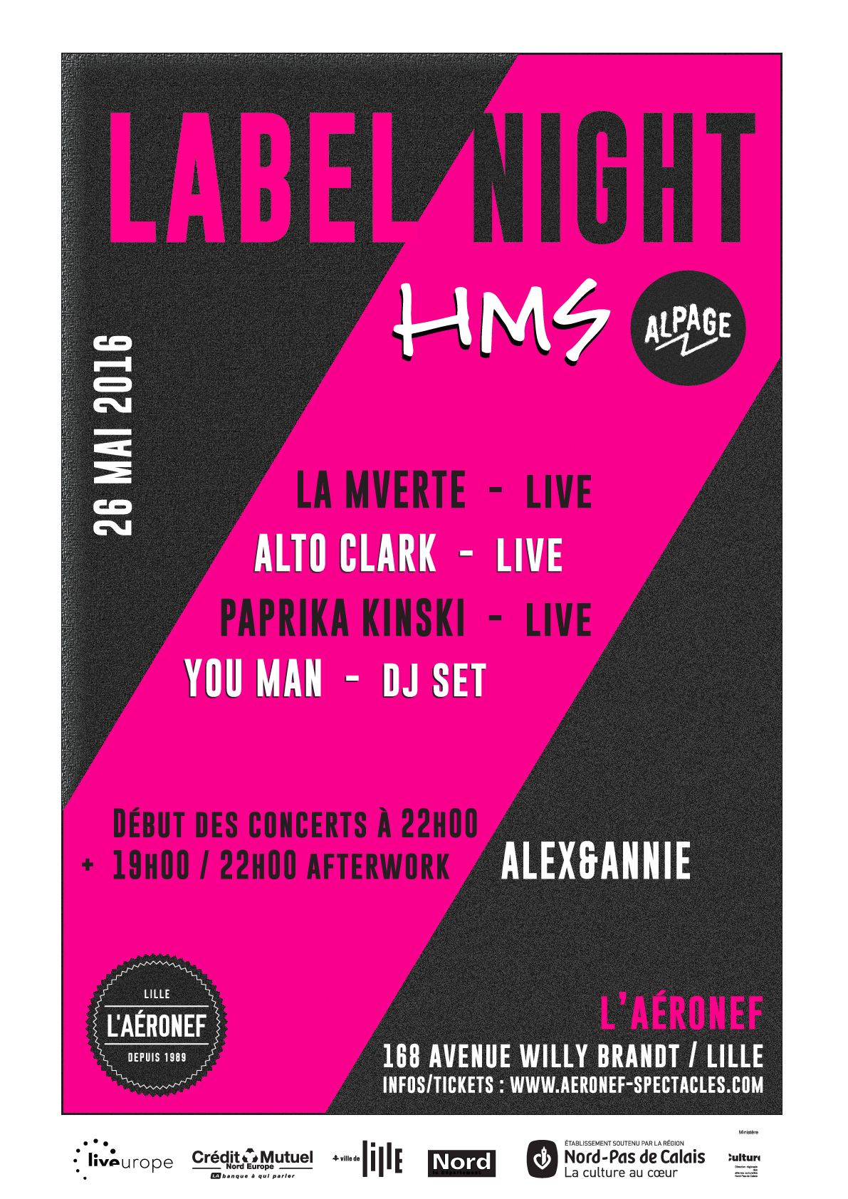 Label Night Aéronef Lille