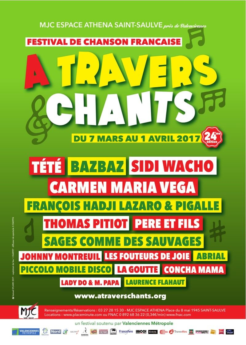 A Travers Chants 2017 MJC Espace Athena Saint Saulve festival