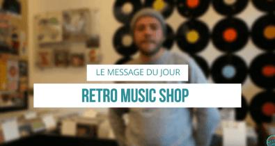 Le message du jour Retro Music Shop Vintage Weekender Condition Publique Roubaix