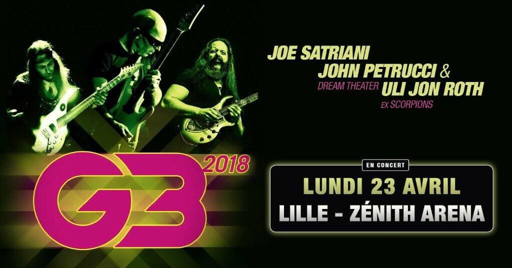 Le guitariste Hero Joe Satriani fait revivre son groupe G3