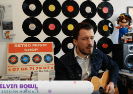 Kelvin Bowl en session musicale