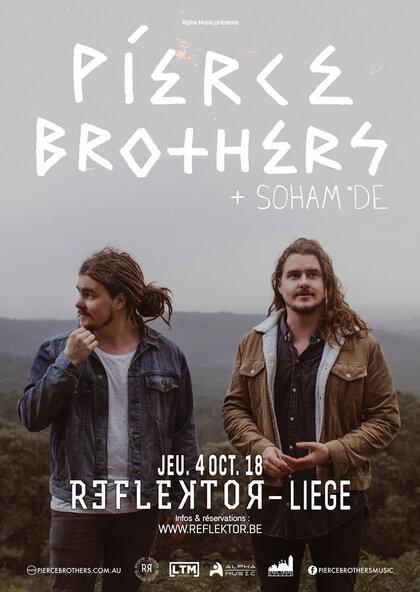 L'incroyable duo australien Pierce Brothers en concert au REFLEKTOR de Liège le jeudi 4 octobre 2018 cacestculte