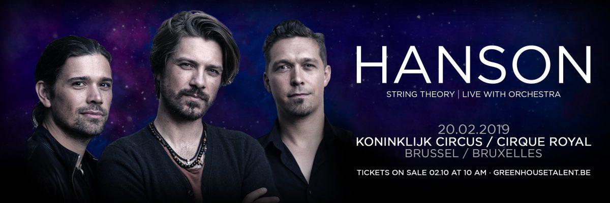 Hanson avec orchestre en concert au Cirque Royal le 20 février 2019 cacestculte