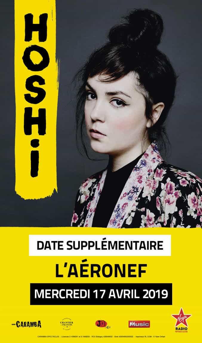 Hoshi en concert au Splendid de Lille c'est complet ! Annonce d'une date supplémentaire ! Aéronef de Lille concert cacestculte