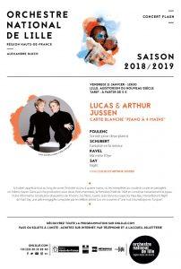 Les prodiges du piano Lucas et Arthur Jussen à l'Orchestre jeudi 10 et vendredi 11 janvier 2019