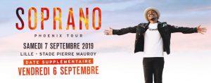 Soprano - une deuxième date au STADE PIERRE MAUROY -