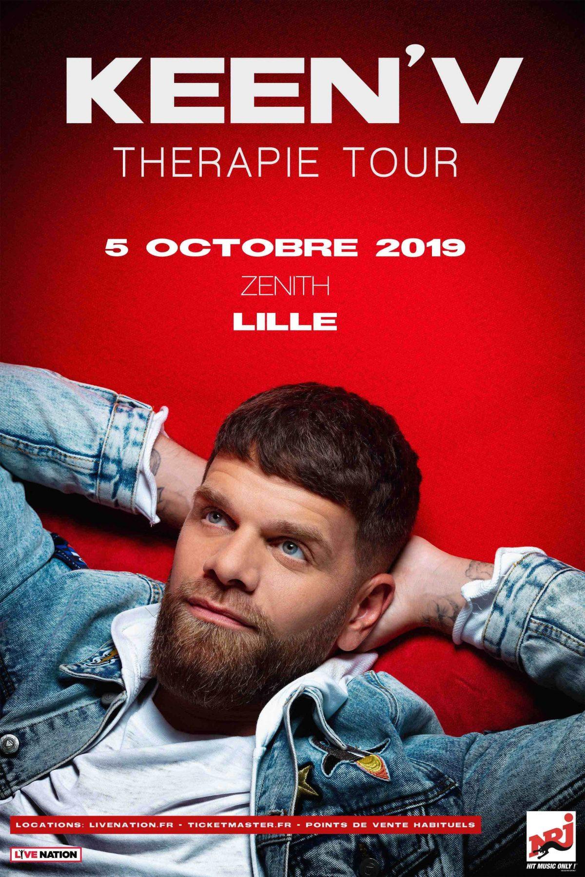 Keen'V : Thérapie Tour au Zénith de Lille le samedi 5 octobre 2019