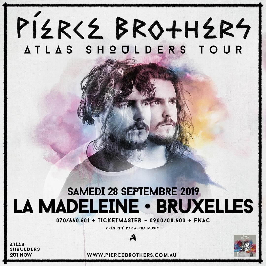 PIERCE BROTHERS en concert à la MADELEINE (Bruxelles) le samedi 28 septembre 2019