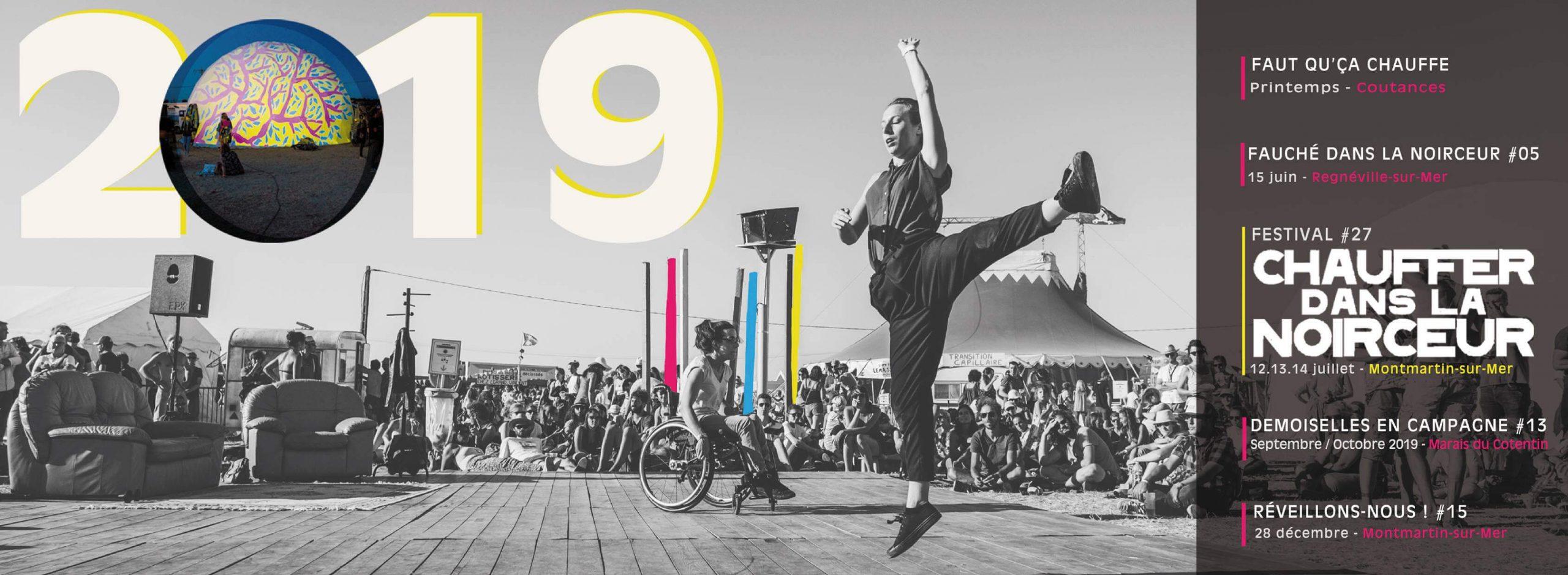 La 27e édition du festival CHAUFFER DANS LA NOIRCEUR aura lieu du 12 au 14 juillet 2019 à Montmartin/Mer (Normandie)