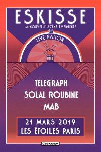 Le trio Telegraph sera sur la scène du célèbre théâtre Les Étoiles ce jeudi, pour la soirée Eskisse by Live Nation.