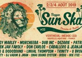 Ne manquez pas la 22e édition du Reggae Sun Ska à Vertheuil-Médoc (33) 2, 3 et 4 août 2019