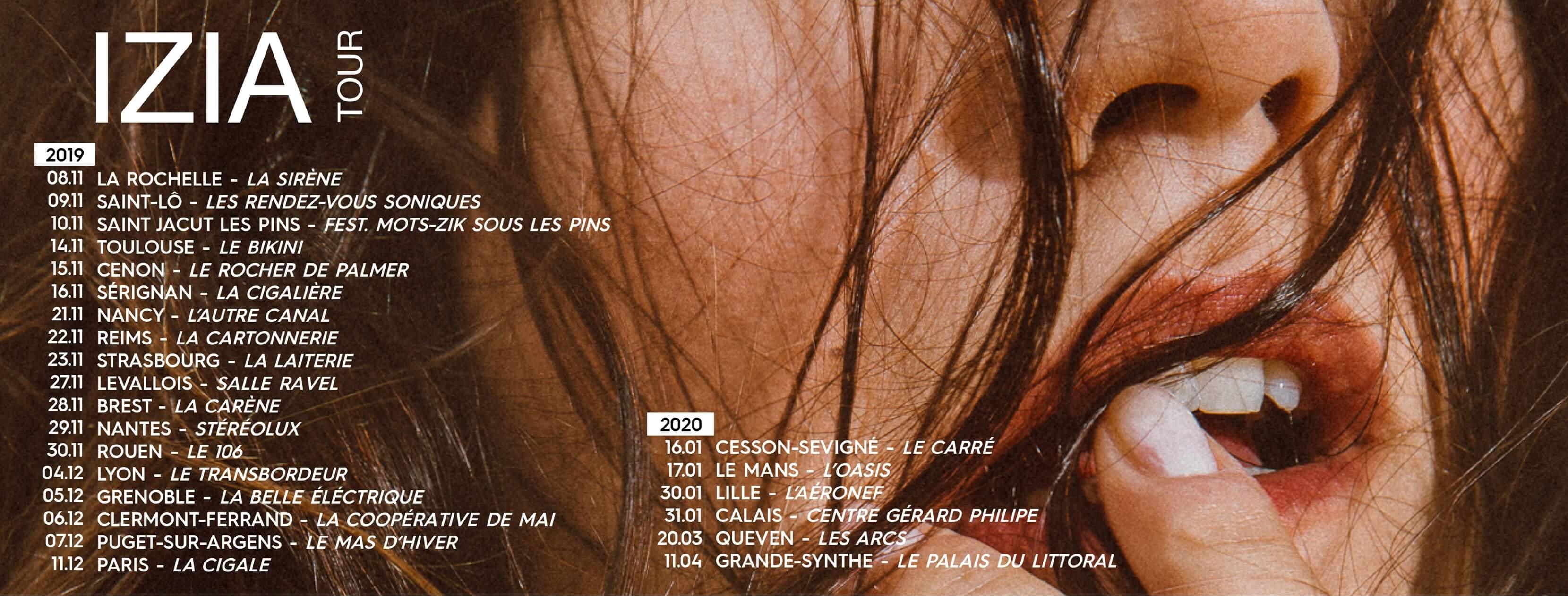 Izïa : un nouvel album et une tournée pour la rentrée 2019