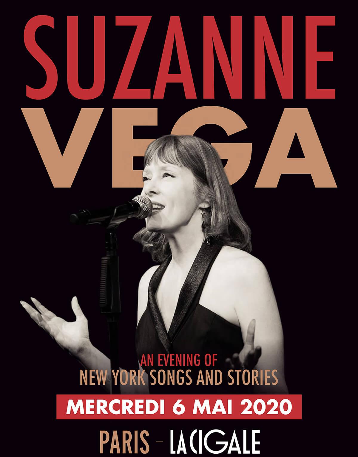Suzanne Vega en concert à La Cigale le 6 mai 2020