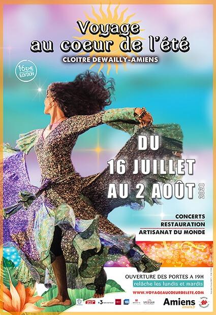Jusqu'au 2 août 2020, ne manquez pas la 16e édition du Festival Voyage au cœur de l'été à Amiens !