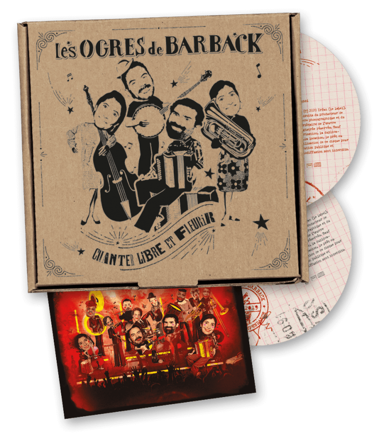 "CHANTER LIBRE ET FLEURIR"" DOUBLE ALBUM LIVE COLLECTOR Les Ogres de Barback"
