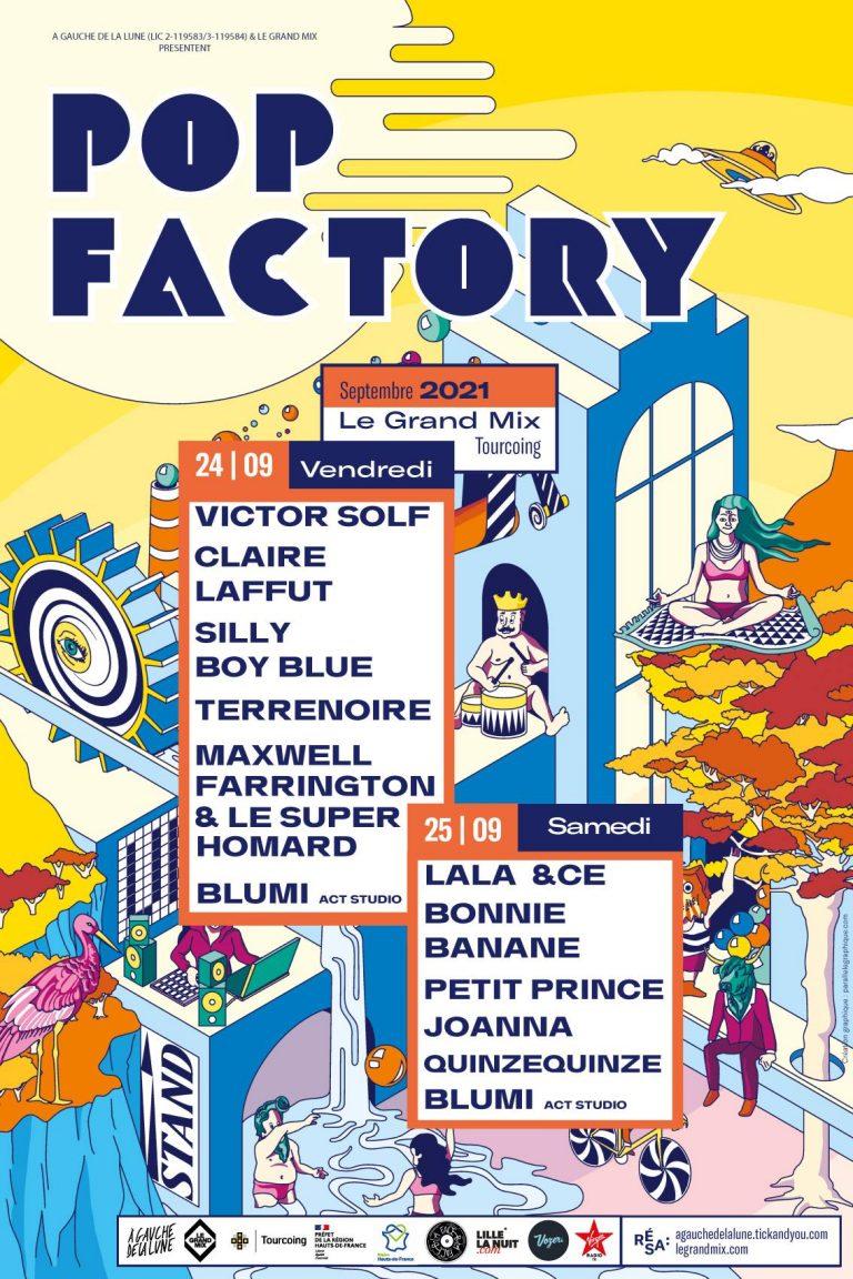 LE FESTIVAL POP FACTORY 2021 à Tourcoing !