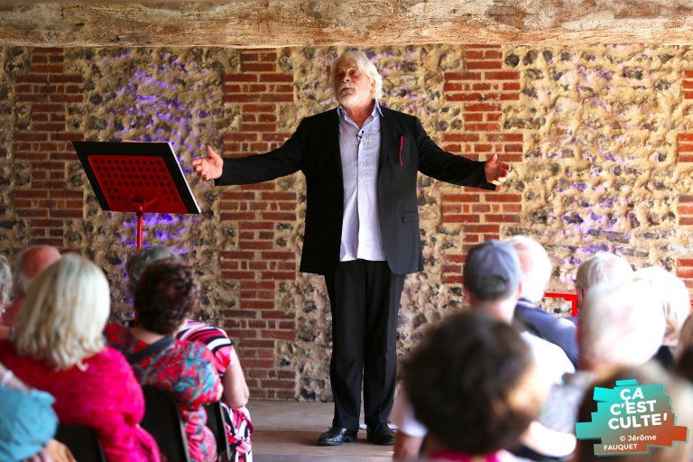 Jacques Weber à l'Abbaye de Saint Riquier.